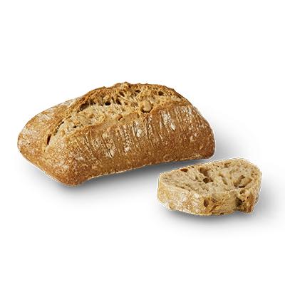 Petit pain rectangulaire seigle et graines 55g