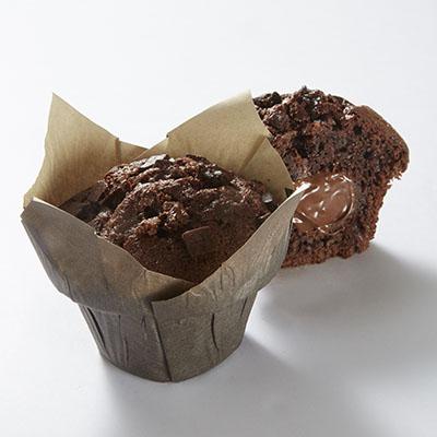 Muffins choco fourrés choco
