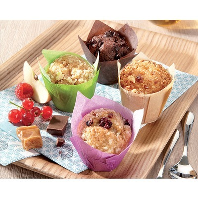 Assortiment mini-muffins choco/Caramel/Fruits rouges